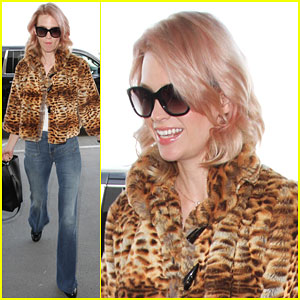 January Jones Looks Like She Just Stepped Out of the 70s