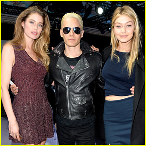 Jared Leto Mingles with Models During Paris Fashion Week