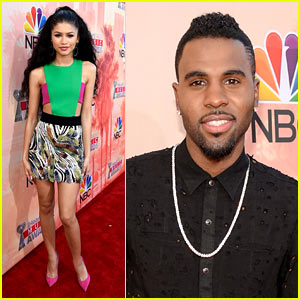 Jason Derulo & Zendaya Hit the iHeartRadio Music Awards 2015