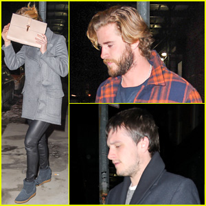 Jennifer Lawrence Reunites with Liam Hemsworth & Josh Hutcherson for Dinner in the Big Apple
