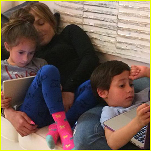 Jennifer Lopez Shares Cute Photo Of Her 'Sunday Funday' with Twins Max & Emme
