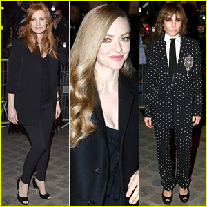 Jessica Chastain & Amanda Seyfried Are Stunning at the Givenchy Show
