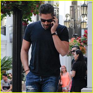 Joe Manganiello Takes a Solo Stroll Around Beverly Hills