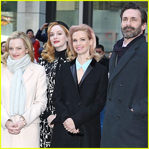 Jon Hamm & 'Mad Men' Cast Unveil Draper Bench in NYC