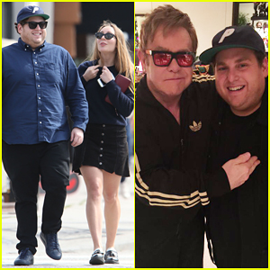 Jonah Hill Goes Shopping with Girlfriend in Hollywood After Breaking The Internet with Elton John