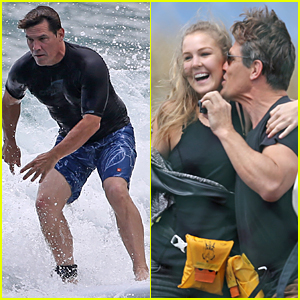 Josh Brolin Smooches Girlfriend Kathryn Boyd In Front Of Her Family in Hawaii