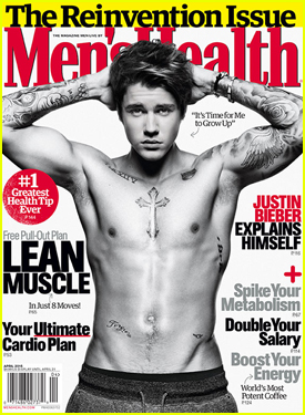 Shirtless Justin Bieber Opens Up on Relationships in 'Men's Health'