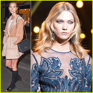Karlie Kloss Grabs Late Night Dinner in Paris Before Elie Saab Fashion Show