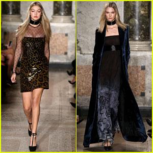 Gigi Hadid & Karlie Kloss Walk Emilio Pucci & Dolce and Gabbana Shows Together In Milan