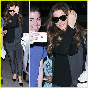 Kate Beckinsale Returns to Los Angeles After One Month Movie Shoot in Ireland