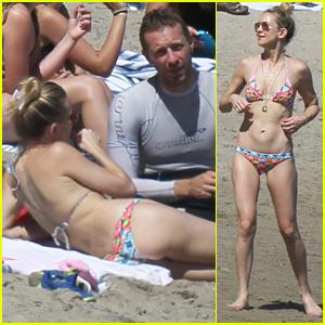 Kate Hudson Shows Off Bikini Body at Beach With Chris Martin