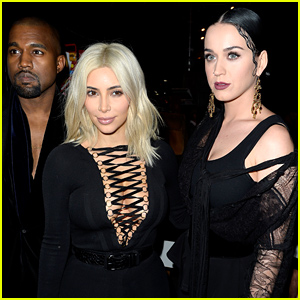 Katy Perry Hangs with Kim Kardashian & Kanye West at Givenchy Show!