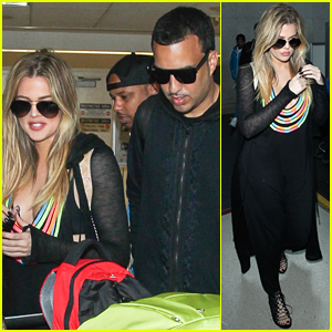 Khloe Kardashian & French Montana Return Home After Their Romantic Getaway