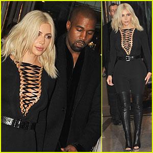 Kim Kardashian & Kanye West Head to Givenchy's Paris Fashion Week Show