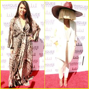 Kourtney Kardashian & Sia Get Ready to Party in Las Vegas