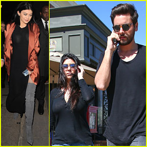 Kourtney Kardashian Lunches With Scott Disick While Kylie Jenner Checks Out The London Eye