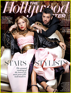 Lady Gaga & Stylist Brandon Maxwell Pose for Karl Lagerfeld for THR's 25 Most Powerful Stylists Issue