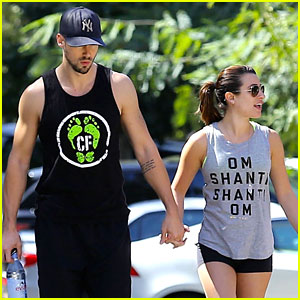 Lea Michele & Matthew Paetz Hold Hands For Weekend Hike