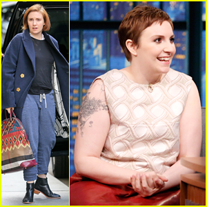 Lena Dunham Debuts New Pixie Cut & Talks Guest Starring on 'Scandal' on 'Late Night' - Watch Here!