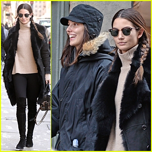 Lily Aldridge & Younger Sis Ruby Catch Up Over Lunch