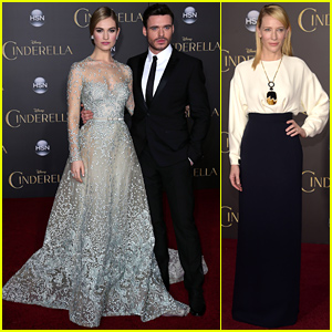 Lily James & Cate Blanchett Look Picture Perfect at 'Cinderella' Premiere