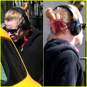 Macaulay Culkin Is Rocking Pink Hair Highlights These Days