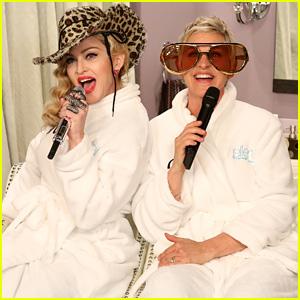 Madonna & Ellen DeGeneres Sing 'Dress You Up' in Bathroom Robes - Watch Now!