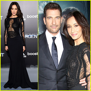 Maggie Q & Dylan McDermott Couple Up at 'Insurgent' Premiere