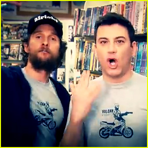 Matthew McConaughey & Jimmy Kimmel Film Funny Local TV Commercial for Vulcan Video - Watch now!