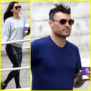 Megan Fox & Brian Austin Green Re-Energize With an Afternoon Coffee Run