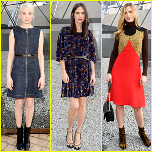 Michelle Williams, Jennifer Connelly, & More Sit Front Row at the Louis Vuitton Fashion Show!