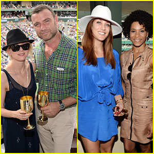 Naomi Watts & Liev Schreiber Hang Out With Celebs at BNP Paribas Open 2015