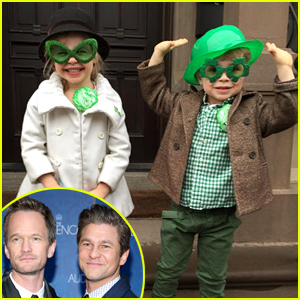 Neil Patrick Harris Shares Adorable Photo of Harper & Gideon on St. Patrick's Day!
