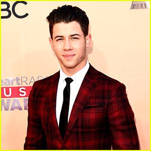 Nick Jonas Rocks Red Plaid at iHeartRadio Music Awards 2015