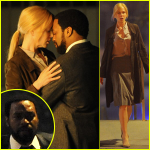 Nicole Kidman & Chiwetel Ejiofor Nearly Kiss for 'The Secret in Their Eyes' Filming