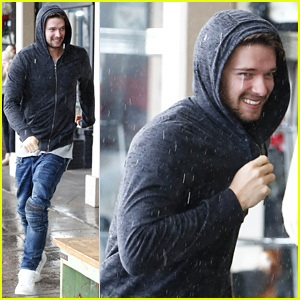 Patrick Schwarzenegger Braves Torrential Rain for Lunch with Miley Cyrus!