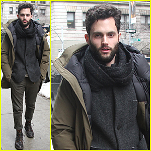 Penn Badgley Looks Perfectly Dressed For Cold NYC Weather