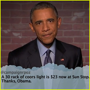 President Obama Reads Mean Tweets on 'Kimmel' - Watch Now!