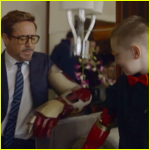 Robert Downey Jr. Gives Iron Man Bionic Arm to Young Boy & Changes His Life - Watch Now