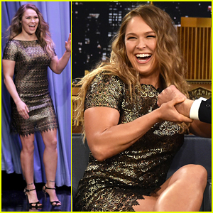 Ronda Rousey Tests Her Arm-Breaking MMA Maneuver on Jimmy Fallon - Watch Here!