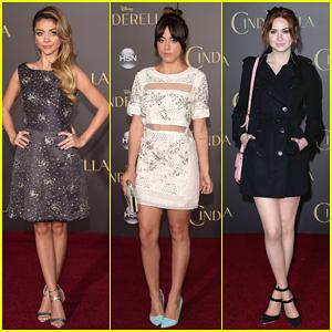 Sarah Hyland, Chloe Bennet & Karen Gillan Are Classy Ladies at 'Cinderella' Premiere!