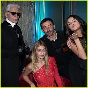 Selena Gomez & Gigi Hadid Celebrate CR Fashion Book Issue 6 Together in Paris
