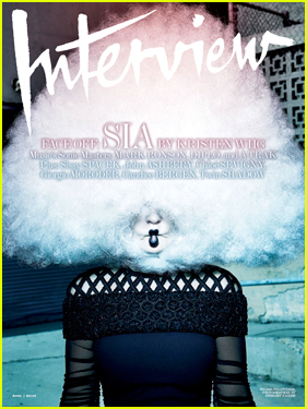 Sia's White Hair Is Out of Control on 'Interview' April 2015 Cover