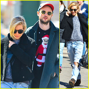 Sienna Miller's Black Eye & Stitches Are Nowhere to Be Seen While Out with Tom Sturridge