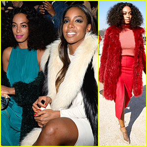 Solange Knowles & Kelly Rowland Catch Up at Lanvin Fashion Show