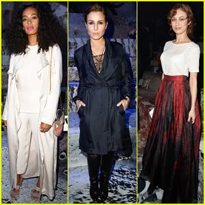 Solange Knowles, Noomi Rapace, & Olga Kurylenko Sit Front Row at H&M Paris Fashion Show!