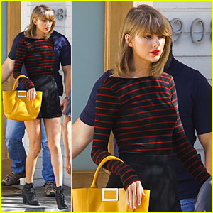 Taylor Swift Grabs Lunch at A.O.C. Pre-Girls' Night Out