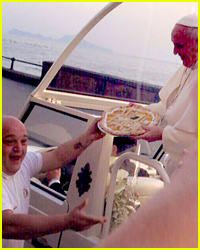 The Pope Got a Pizza Delivered to the Popemobile!