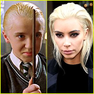 Tom Felton Responds to Kim Kardashian's Draco Malfoy Hair