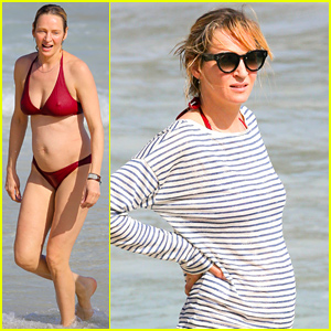 Uma Thurman Shows Off Her Bikini Body in St Barts